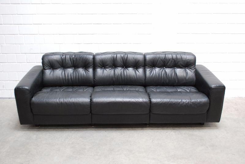 de sede ds 40 vintage ensemble 3er 2er ledersofa black. Black Bedroom Furniture Sets. Home Design Ideas