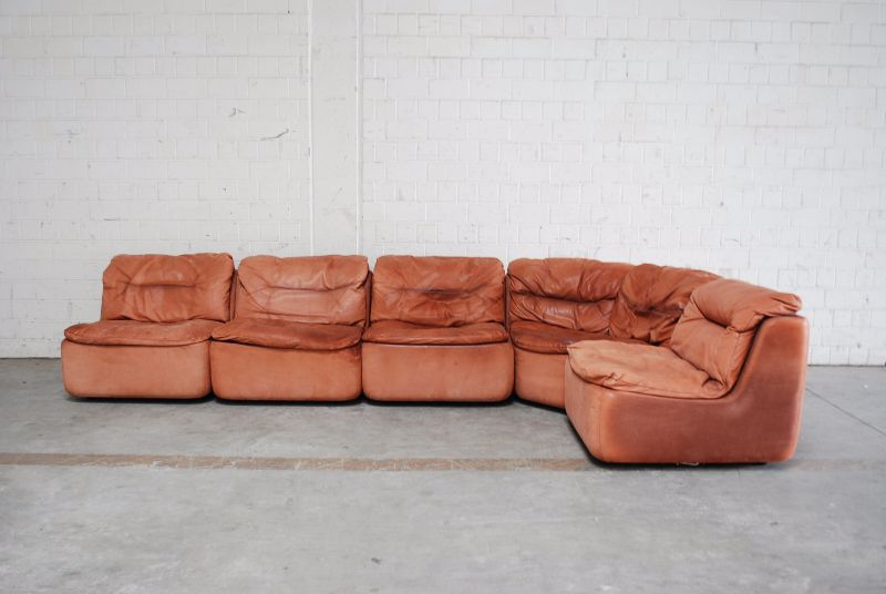 walter knoll vintage cognac plus modul wohnlandschaft sofa ledersofa 5 elemente ebay. Black Bedroom Furniture Sets. Home Design Ideas