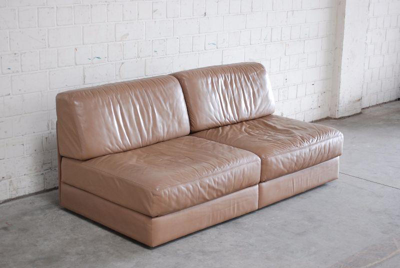 de sede ds 76 sofa vintage ledersofa schlafsofa beige hellbraun np eur ebay. Black Bedroom Furniture Sets. Home Design Ideas