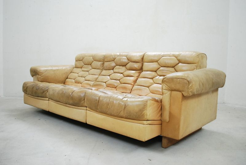 de sede ds p vintage lounge sofa ledersofa cognac rar ebay. Black Bedroom Furniture Sets. Home Design Ideas