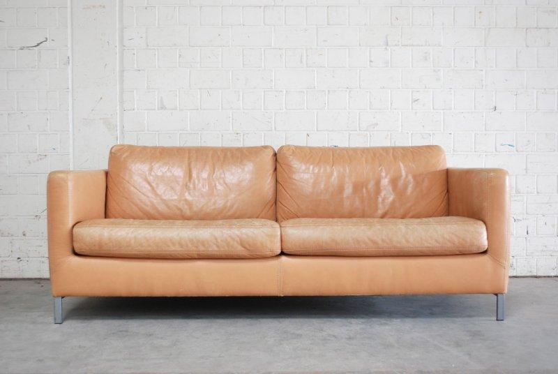 Machalke ledersofa vintage sofa modell pablo leder saddle for Designklassiker sofa