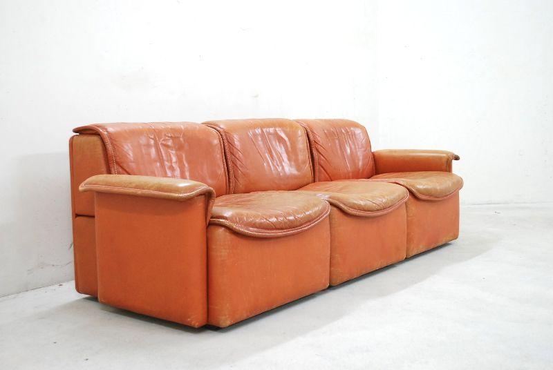 de sede ds 12 sofa vintage modular wohnlandschaft cognac ledersofa sofa sessel ebay. Black Bedroom Furniture Sets. Home Design Ideas