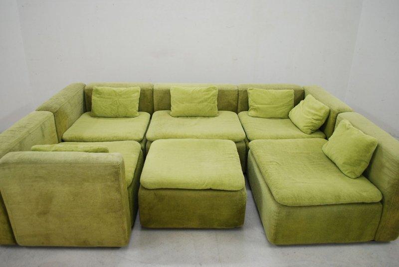 cor modell cubus sofa trio ra wohnlandschaft modular 70er kult vintage limette ebay. Black Bedroom Furniture Sets. Home Design Ideas