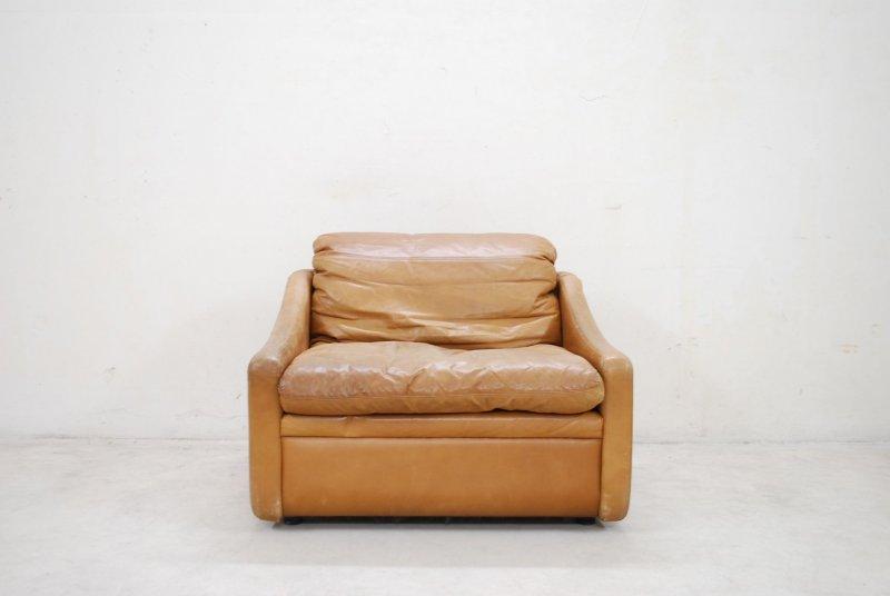 rolf benz ledersessel cognac vintage easy lounge chair 70er sessel ebay. Black Bedroom Furniture Sets. Home Design Ideas