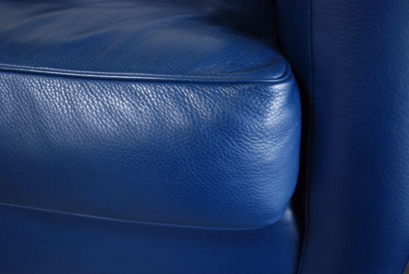 poltrona frau ledersofa modell george sofa blau ebay. Black Bedroom Furniture Sets. Home Design Ideas