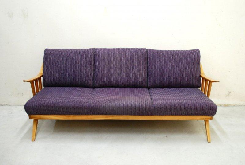 Fine knoll antimott violett sofa daybed 60er danish cherry for Sofa nordisch