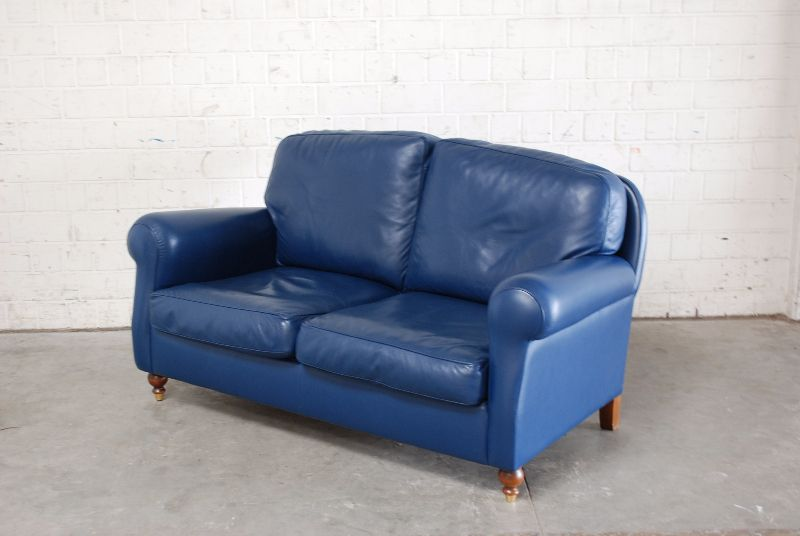poltrona frau ledersofa modell george sofa blau ebay. Black Bedroom Furniture Sets. Home Design Ideas
