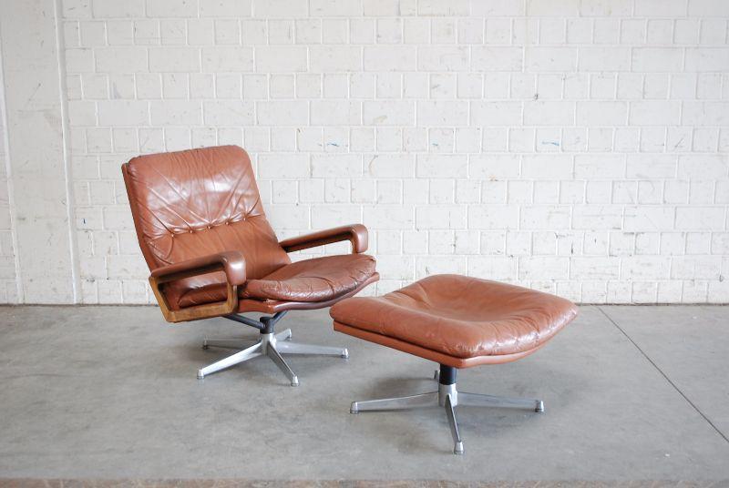 str ssle king lounge chair red cognac ledersessel ebay. Black Bedroom Furniture Sets. Home Design Ideas