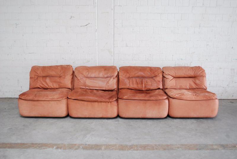 Walter knoll vintage cognac plus modul wohnlandschaft sofa for Wohnlandschaft cognac