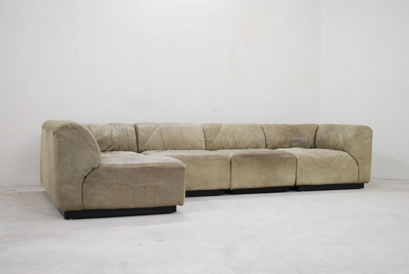 Walter knoll vintage 70er dom ne modul wohnlandschaft sofa for Wohnlandschaft retro