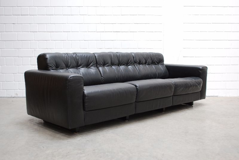 de sede ds 40 vintage ensemble 3er 2er ledersofa black sofa ebay. Black Bedroom Furniture Sets. Home Design Ideas