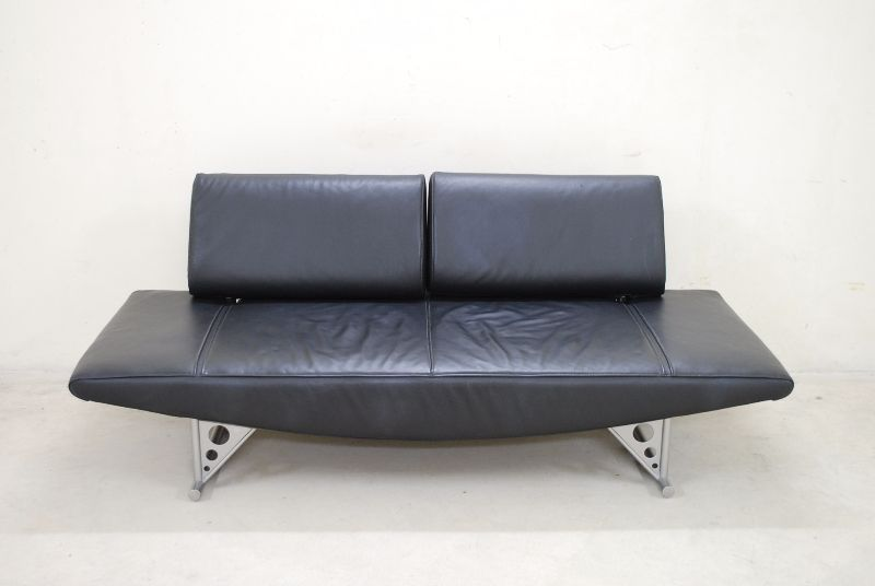 cor modell cirrus sofa ledersofa schlafsofa schwarz ebay. Black Bedroom Furniture Sets. Home Design Ideas