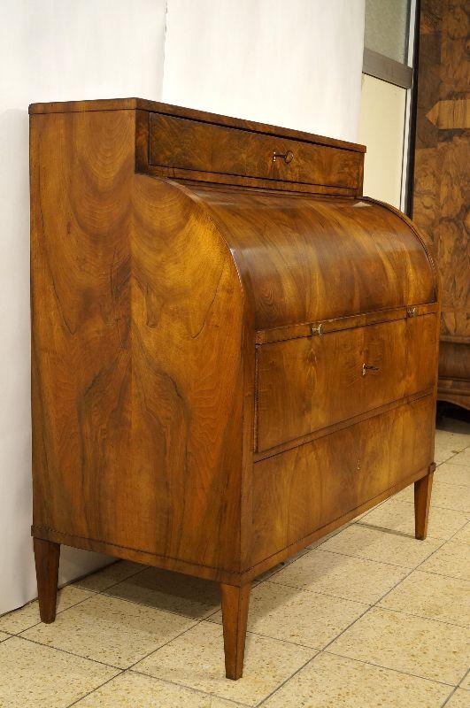 klassischer biedermeier zylinder sekret r rollb ro nussbaum um 1805 ebay. Black Bedroom Furniture Sets. Home Design Ideas