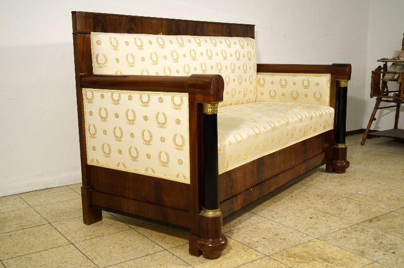 seltenes empire biedermeier sofa canape um 1820 mit s ulen ebay. Black Bedroom Furniture Sets. Home Design Ideas
