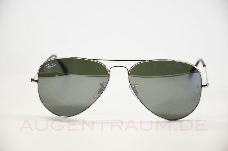 rayban pilotenbrille silber