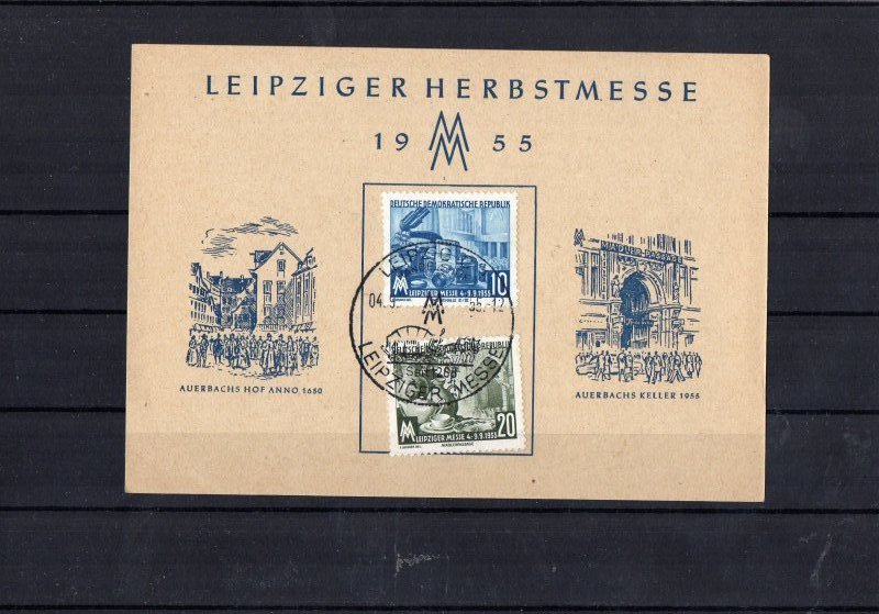 ddr postkarte leipziger messe 1955 mit sonderstempel ebay. Black Bedroom Furniture Sets. Home Design Ideas
