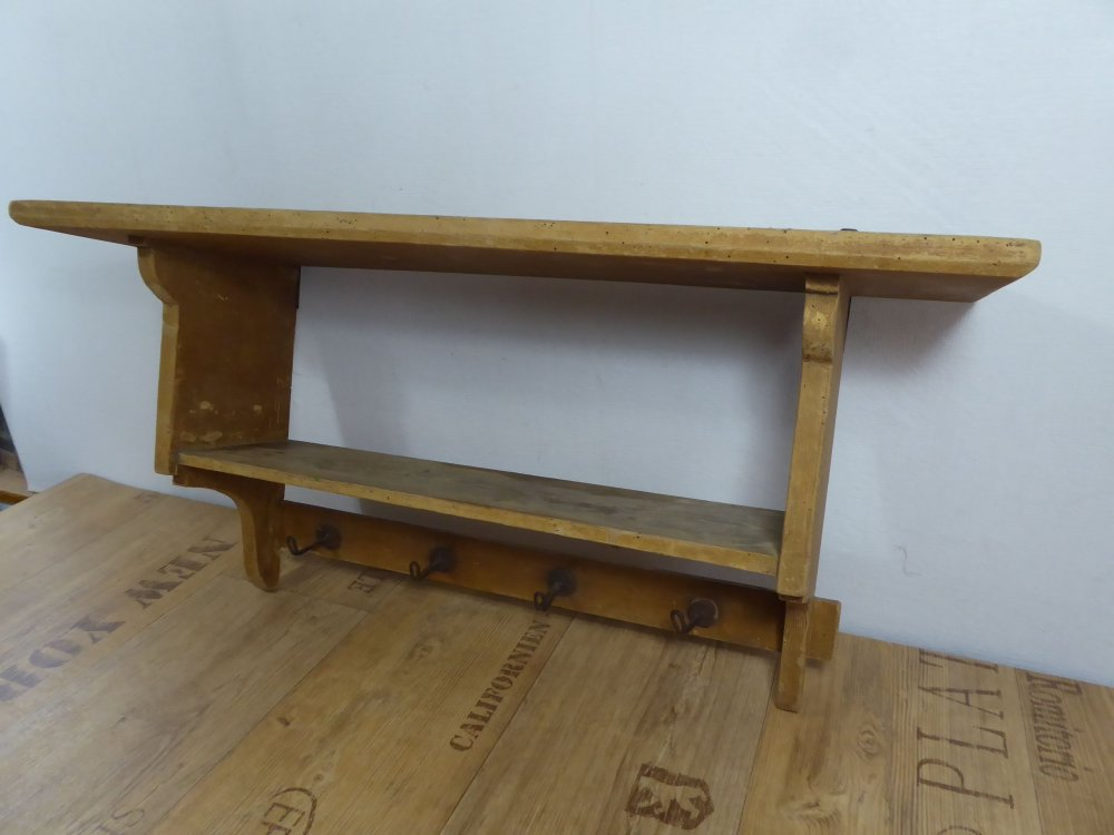 antikes regal wandregal b cherregal holzregal weichholz jugendstil vintage k che ebay. Black Bedroom Furniture Sets. Home Design Ideas