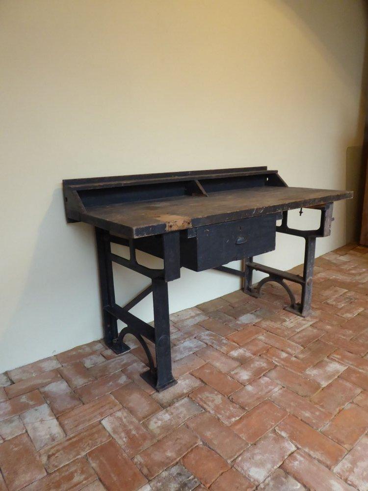 jugendstil art d co desk arbeitstisch werkbank loft m bel. Black Bedroom Furniture Sets. Home Design Ideas