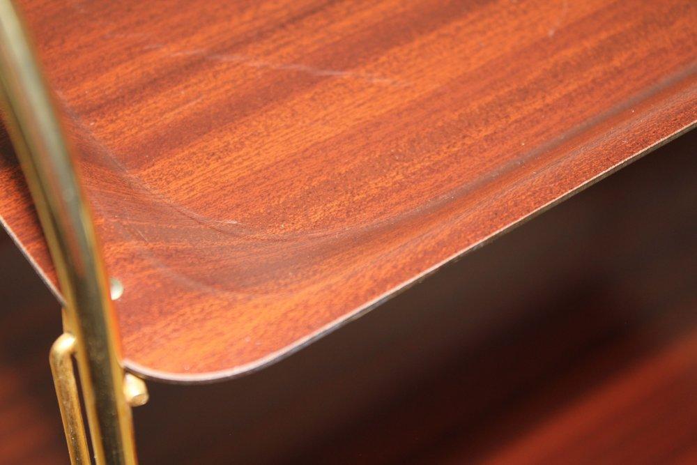 servierwagen teewagen barwagen rollwagen gerlinol dinett 50er 60er teak gold ebay. Black Bedroom Furniture Sets. Home Design Ideas