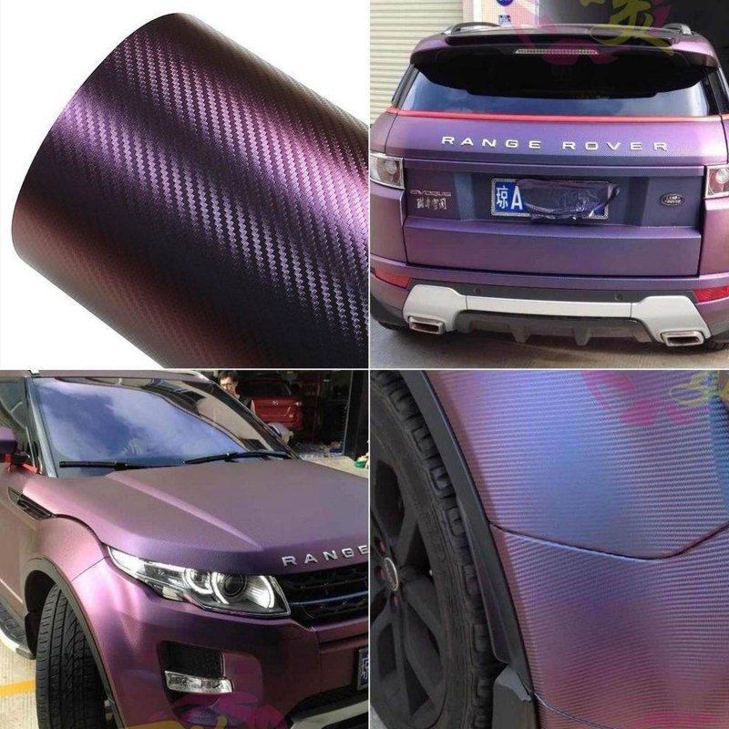 21 00 m cham leon carbon 3d folie rot auto m bel. Black Bedroom Furniture Sets. Home Design Ideas