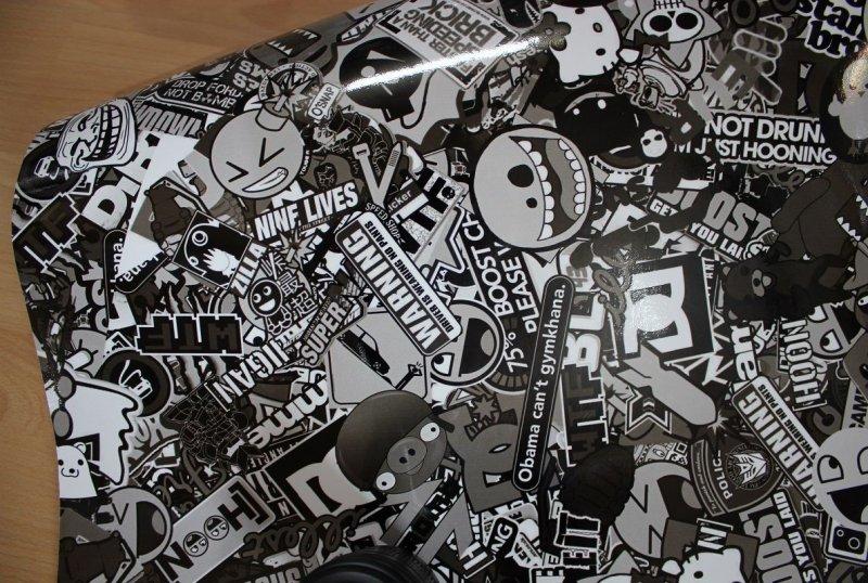 50 x 152cm schwarz wei autofolie auto folie klebefolie. Black Bedroom Furniture Sets. Home Design Ideas