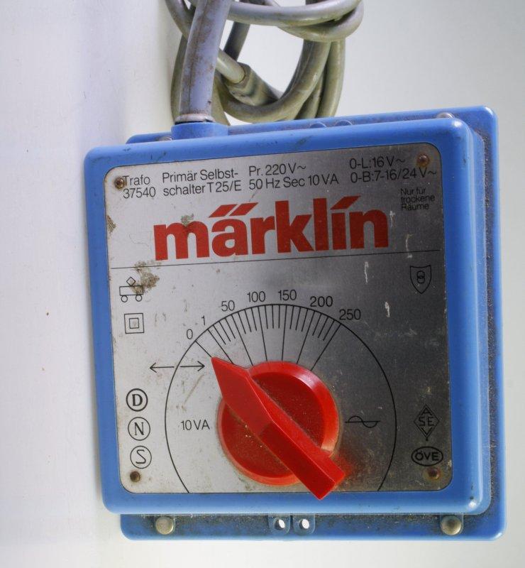 Märklin Trafo 37540 - Fahrtregler aus Rückbau | eBay