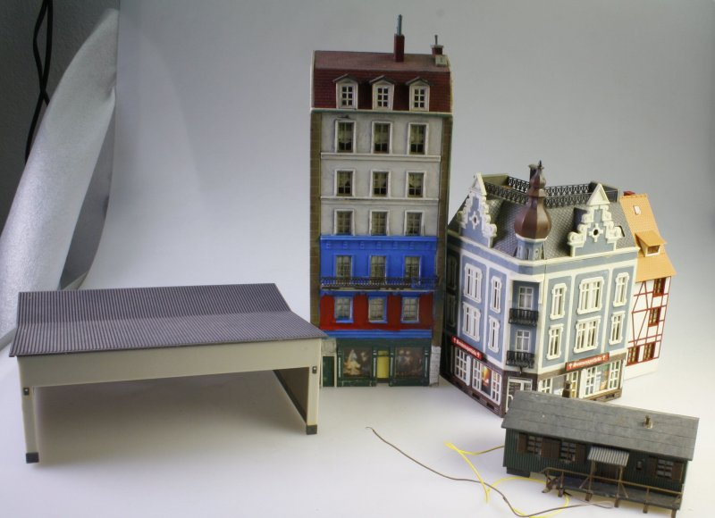 5 geb ude h0 stadthaus garage wohnhaus gesch ft lager ebay. Black Bedroom Furniture Sets. Home Design Ideas