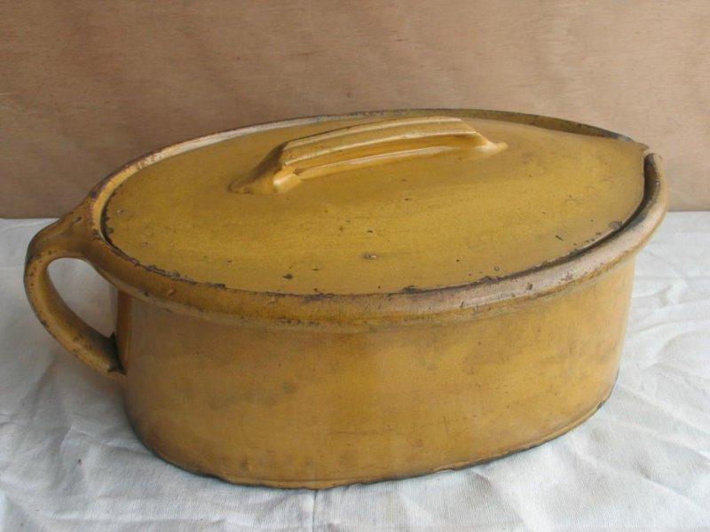 grosser alter antiker keramik topf mit deckel 44 cm br ter 19 jahrhundert ebay. Black Bedroom Furniture Sets. Home Design Ideas