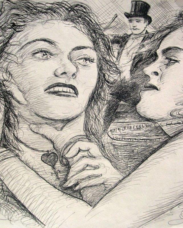 <b>Harry Behr</b>: zwei streitende Frauen und feiner Herr - 55e3f51016dd93f2262e17813df01138e