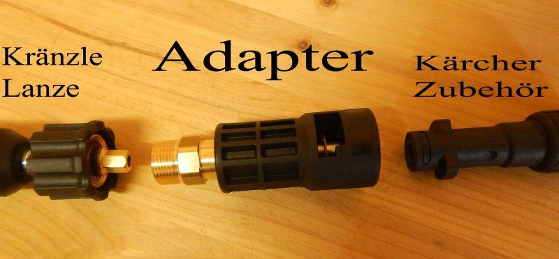 adapter von k rcher bajonett k auf m22 aussengewinde kr nzle ebay. Black Bedroom Furniture Sets. Home Design Ideas
