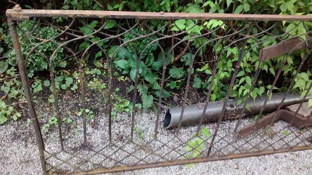 Alter eisenzaun schmiedeeisen metallzaun zaun gartendeko for Gartendeko schmiedeeisen