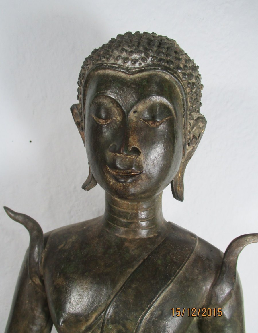 alte gro e siddhartha buddha bronze laos thailand 1960 geweiht gravur 49cm 11kg ebay. Black Bedroom Furniture Sets. Home Design Ideas