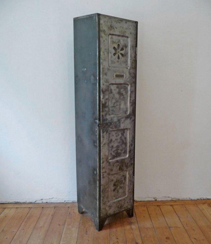 schrank werkstattschank antik loft metallschrank august bl dner gotha vintage ebay. Black Bedroom Furniture Sets. Home Design Ideas