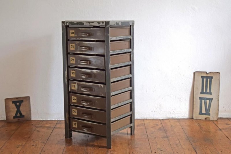 schubladenschrank vintage metall schrank loft antik werkstattschrank alt shabby ebay. Black Bedroom Furniture Sets. Home Design Ideas