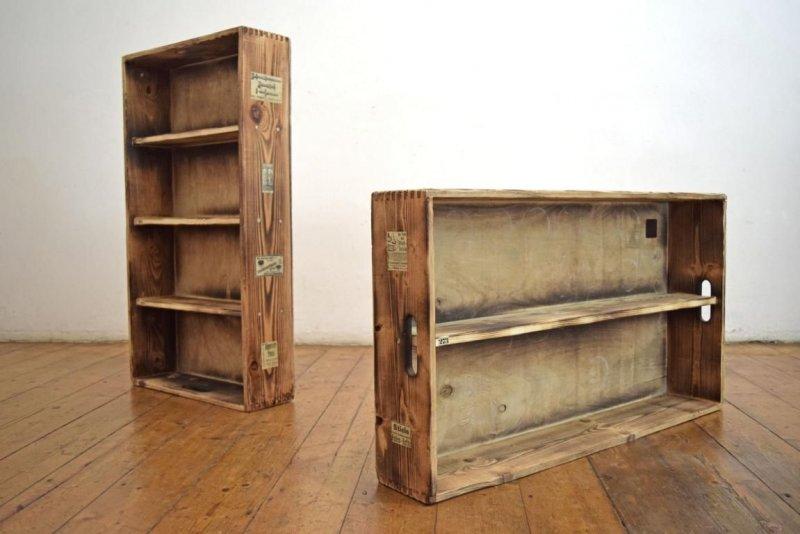 2 regale 1paar loft vintage wandboard fabrik antik reklame werbung wandregal ebay. Black Bedroom Furniture Sets. Home Design Ideas