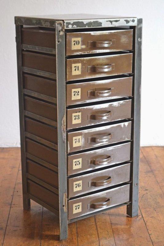 schubladenschrank vintage metall schrank loft antik werkstattschrank alt shabby ebay. Black Bedroom Furniture Sets. Home Design Ideas