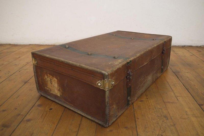 m bel maritim reisekoffer oldtimer antik alt shabby koffer kiste seemannskoffer ebay. Black Bedroom Furniture Sets. Home Design Ideas