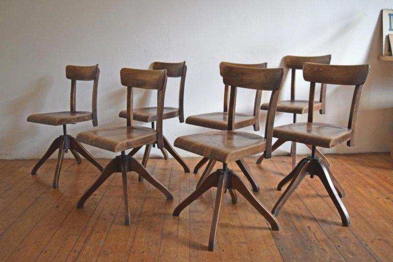 1 of 7 thonet stuhl art deco drehstuhl architektenstuhl. Black Bedroom Furniture Sets. Home Design Ideas