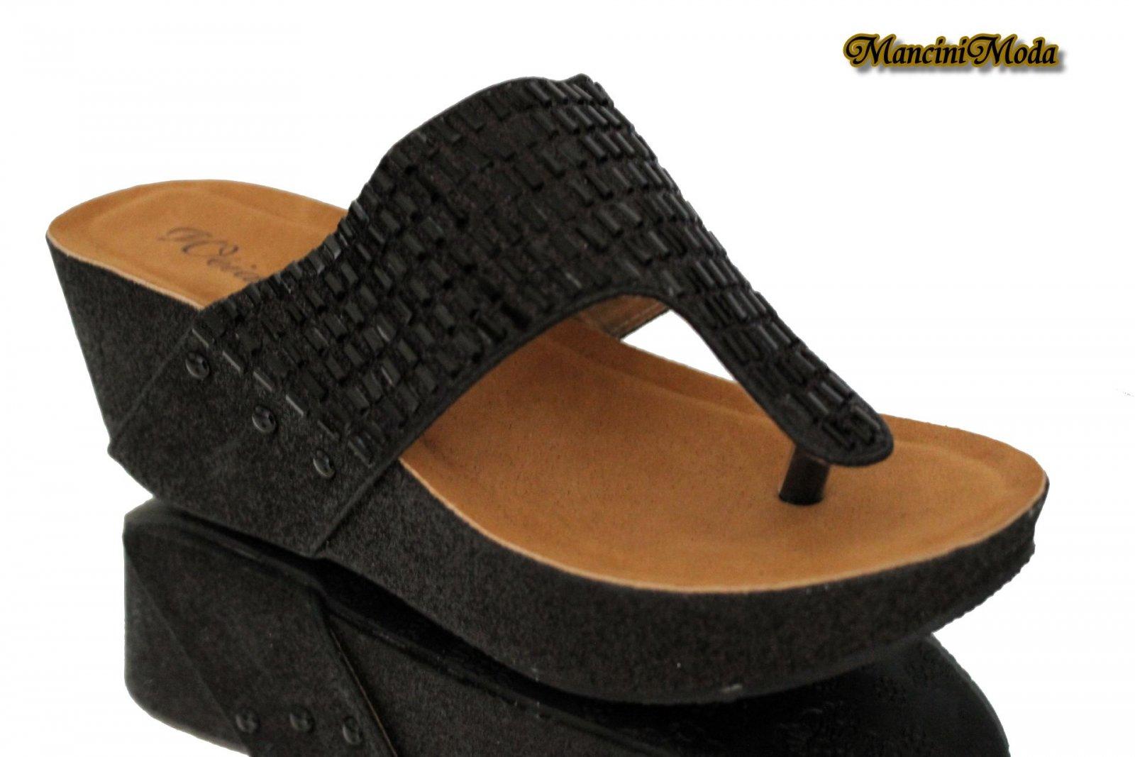 sandalen pantoletten mules keilabsatz zehentrenner plateau wedge 36 39 ebay. Black Bedroom Furniture Sets. Home Design Ideas