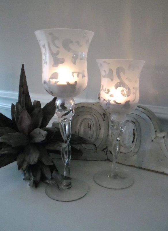 kelch windlicht mit ge tzten ornamenten 30 cm shabby chic landhaus ebay. Black Bedroom Furniture Sets. Home Design Ideas