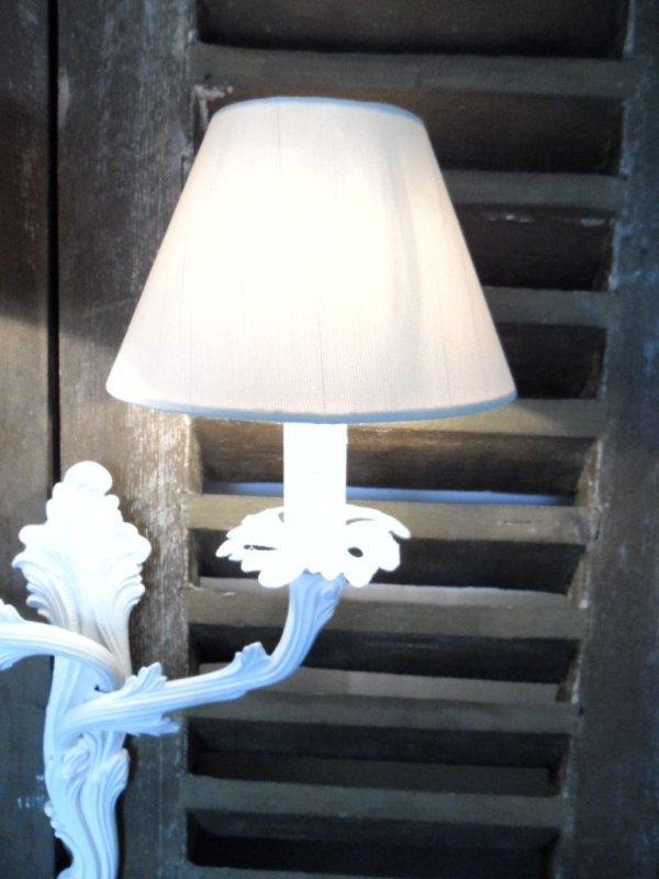 lampenschirm klemmschirm aufsteckschirm kronleuchter 10x8x16 creme neu ebay. Black Bedroom Furniture Sets. Home Design Ideas
