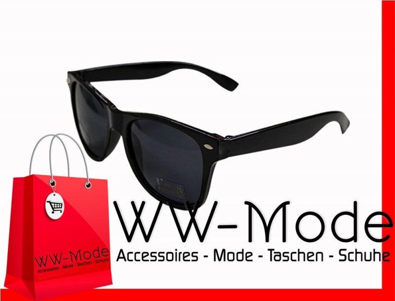 neu sonnenbrille schwarz 80er nerd style wayfarer brille. Black Bedroom Furniture Sets. Home Design Ideas