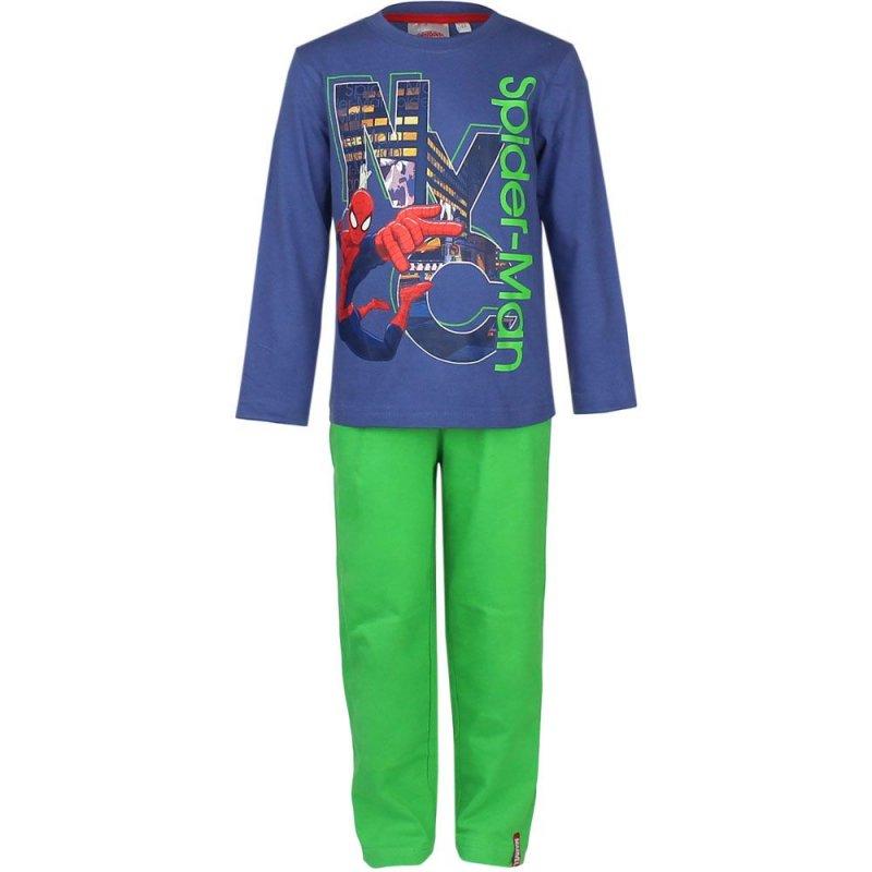 neu pyjama set schlafanzug jungen spiderman blau gr n t rkis 98 104 116 128 42 ebay. Black Bedroom Furniture Sets. Home Design Ideas