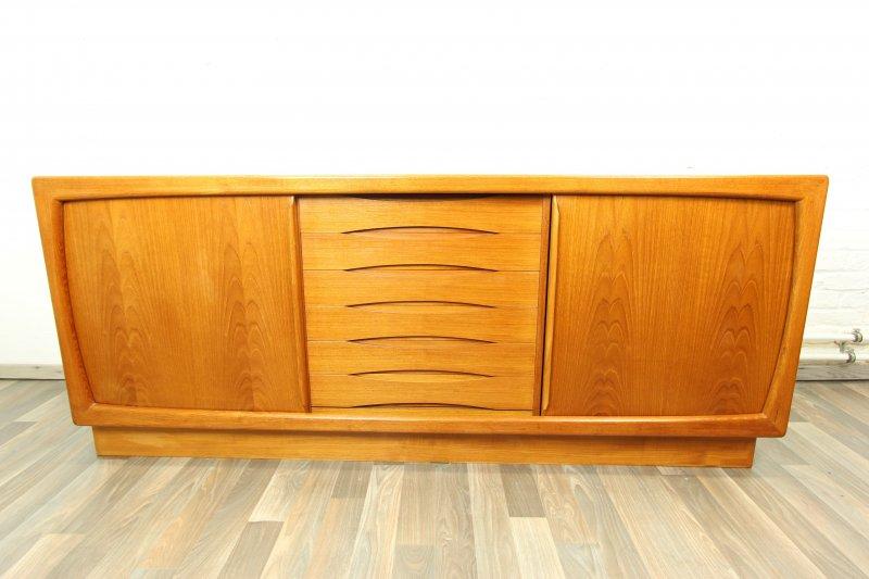 60er 70er jahre danish teak sideboard anrichte kommode for Sideboard 70er jahre