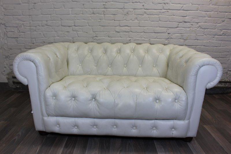 noblessimo leder sofa 2 sitzer 2er chesterfield englisch landhaus garnitur ebay. Black Bedroom Furniture Sets. Home Design Ideas