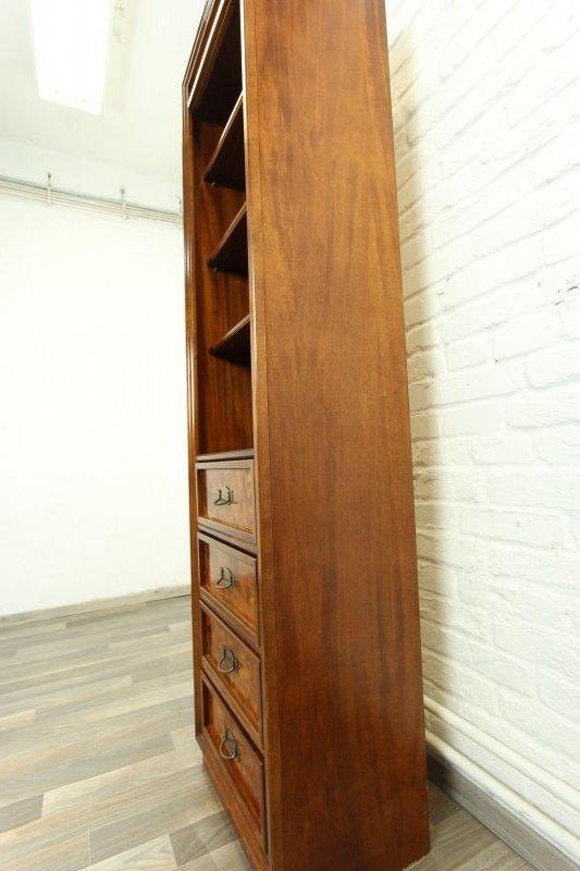wundersch nes schmales b cherregal b cherschrank regal holz nussbaum antik stil ebay. Black Bedroom Furniture Sets. Home Design Ideas