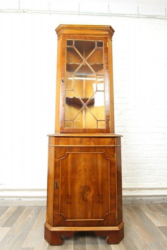 traumhafte seltene eck vitrine toll furniert antik stil heldensee englisch ebay. Black Bedroom Furniture Sets. Home Design Ideas