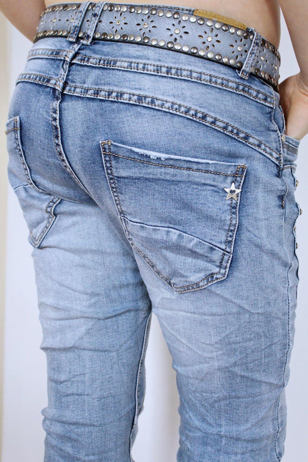 new lexxury glitzer strass boyfriend baggy jeans hose capri shorts bermuda blau ebay. Black Bedroom Furniture Sets. Home Design Ideas