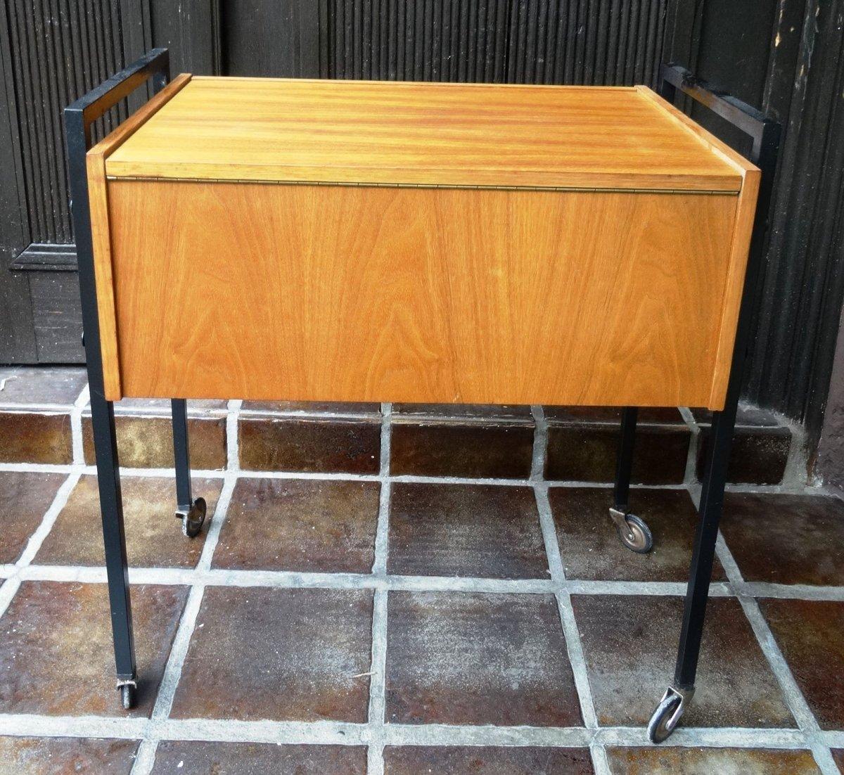 Vintage designer teak holz n h tisch n hschrank danish for Tisch danish design