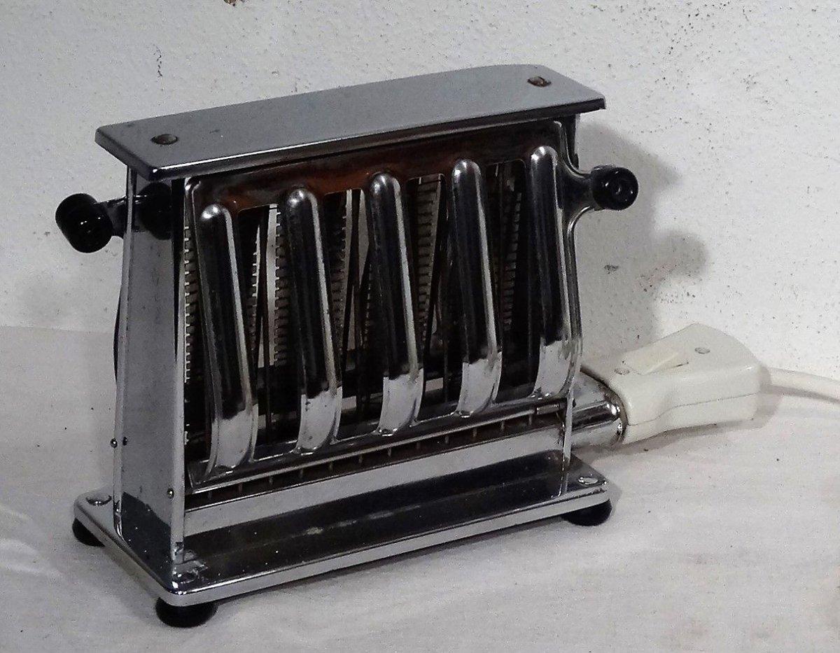 kultiger grossag toaster verchromt schwarze bakelitgriffe made in germany 50er ebay. Black Bedroom Furniture Sets. Home Design Ideas